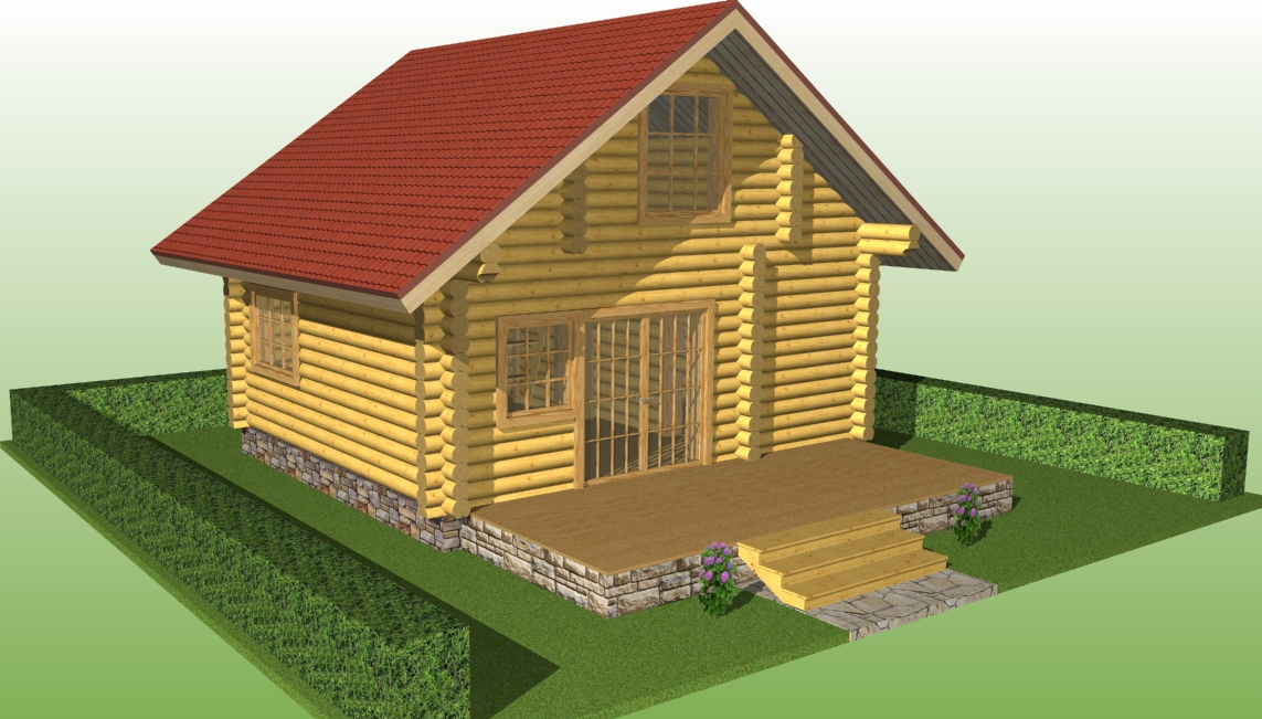 project of wooden house No. 3