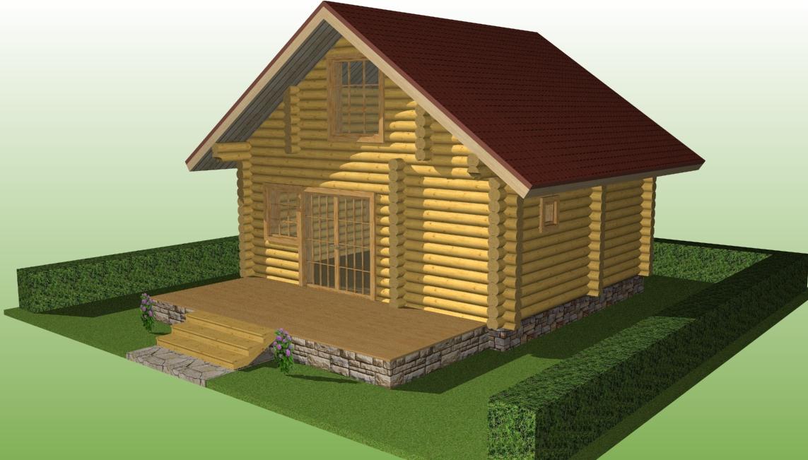 изображение деревянного дома по проекту №3