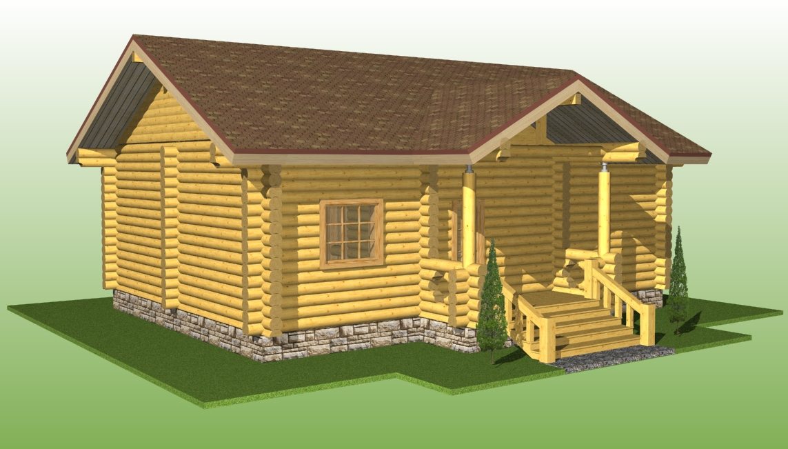 проект дома №5 из оцилиндрованного бревна