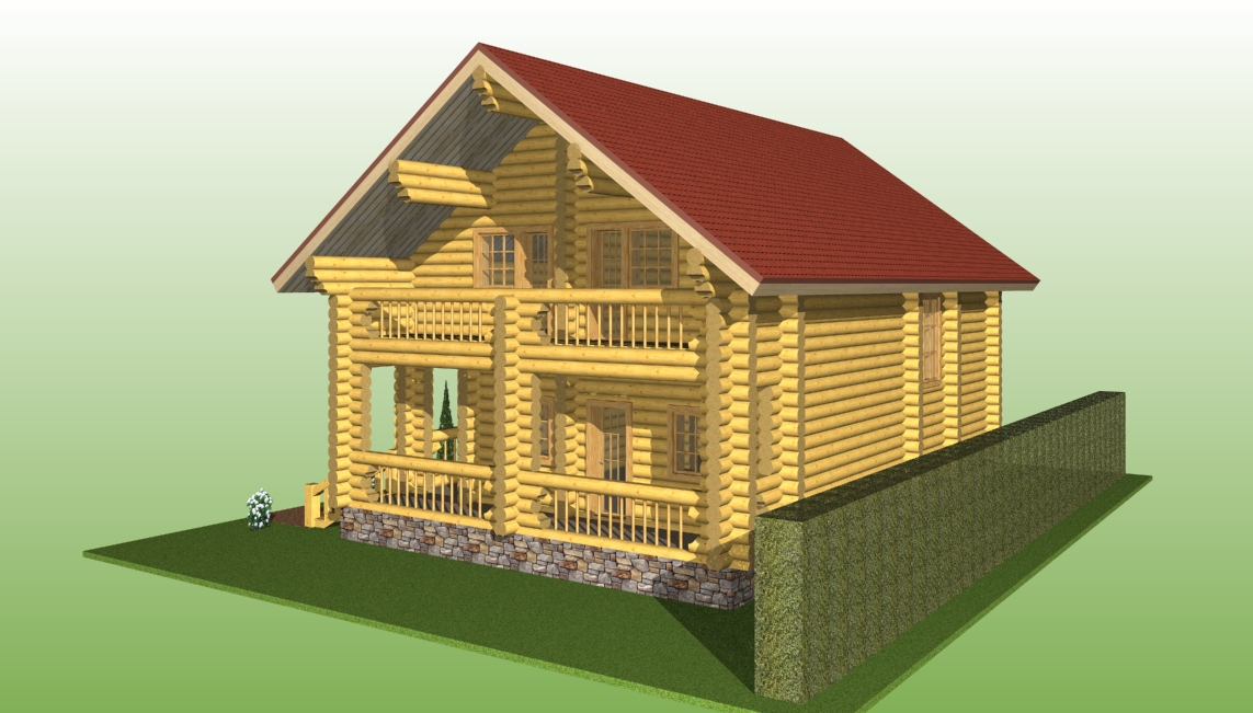 image of a wooden house according to project No. 7