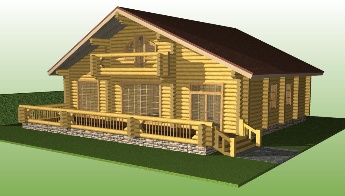 проект №8 дом с большой террасой