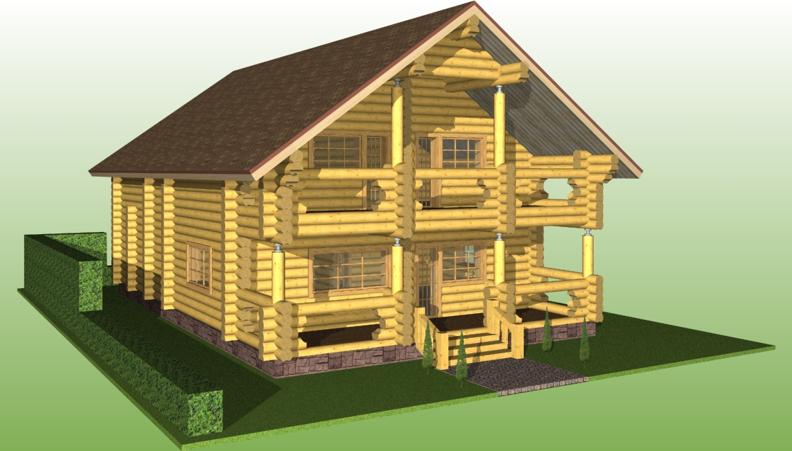 projects of woodenn houses, house project №9